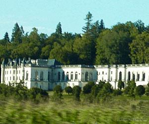 Façade du château de la Mercerie