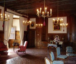 Un salon du château de La Rochefoucault