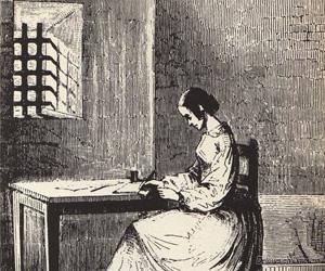 Marie Lafarge rédigeant ses mémoires