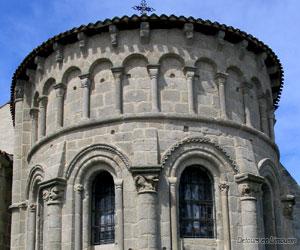 Chevet de l'église Saint-Silvain à Ahun