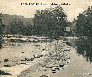 Carte postale ancienne du Bourg-d'Hem