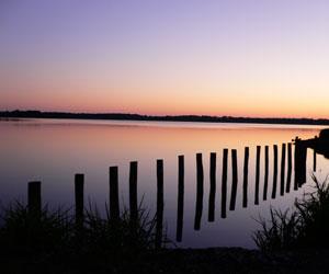 L'étang des Landes à la tombée de la nuit...