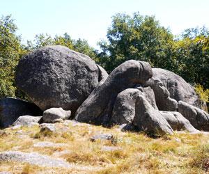 Amas granitique aux Pierres Jaumâtres