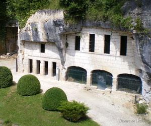Grottes aménagées de l'abbaye de Brantôme