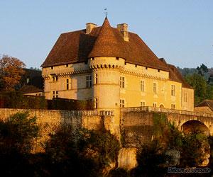 Château de Losse, vue de la Vézère