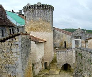 Vue du château des Bernardières