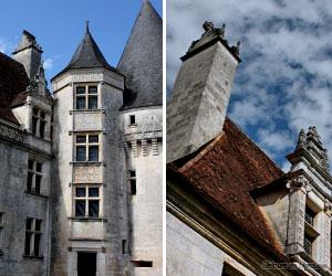 Détails du château de Puyguilhem