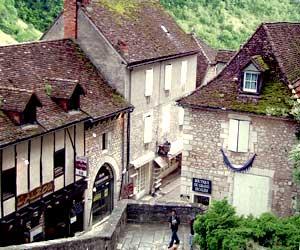 Maisons en pierres dans Rocamadour