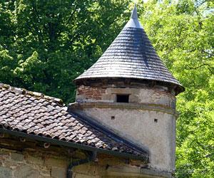 Échauguette sur la grange médiévale