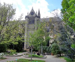 La cathédrale de Limoges vue des jardins