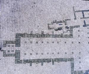Plan de l'abbaye Saint-Sauveur