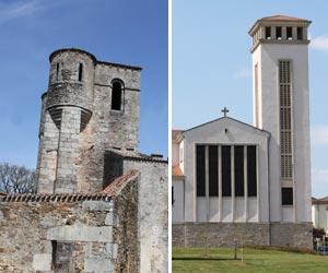 L'ancienne et la nouvelle église d'Ouradour-sur-Glane