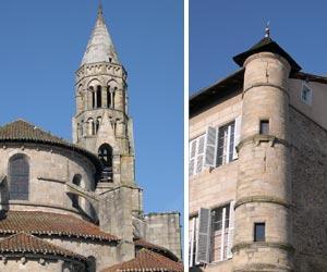 Le clocher de l'église et la Tour Ronde